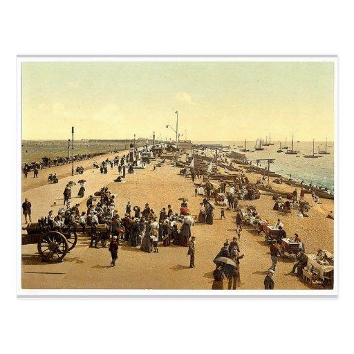 Playa de Southsea, Inglaterra Photochrom raro Postales