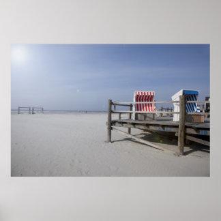 Playa de St. Peter Ording en el verano Poster
