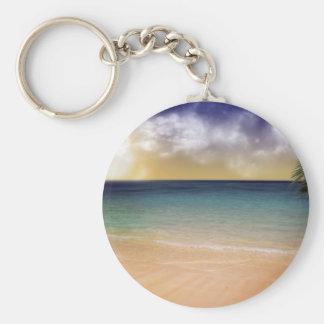 Playa de sueños llavero redondo tipo pin