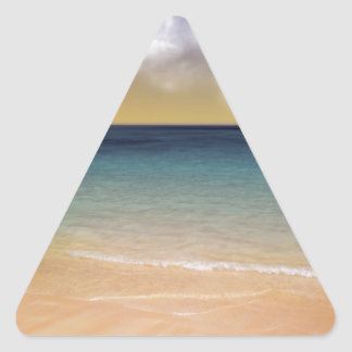 Playa de sueños pegatina triangular
