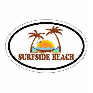 Playa de Surfside Escultura Fotográfica