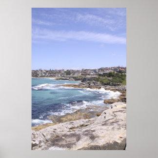 Playa de Tamarama y de Bronte Póster