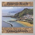 Playa de Tenerife, poster de la foto de las islas