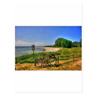 Playa de Thiessow en la isla de Ruegen Tarjetas Postales