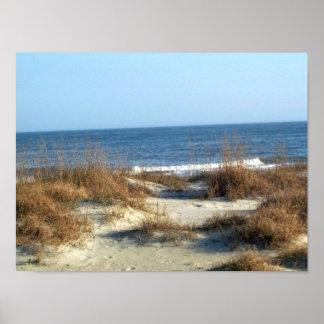 Playa de Tybee Póster