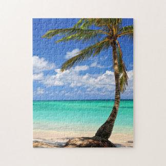 Playa de una isla tropical rompecabezas con fotos