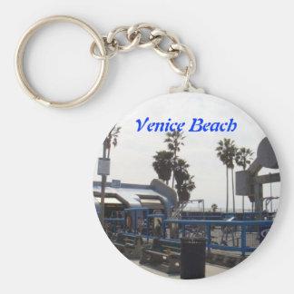 Playa de Venecia, California Llavero Redondo Tipo Pin