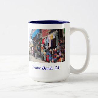 Playa de Venecia, California Taza De Café De Dos Colores