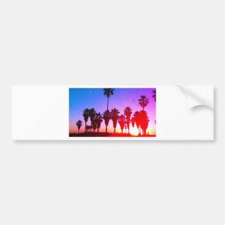 Playa de Venecia de las palmeras Pegatina Para Auto