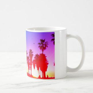 Playa de Venecia de las palmeras Taza De Café