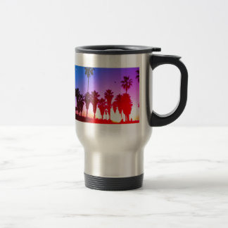 Playa de Venecia de las palmeras Taza De Viaje