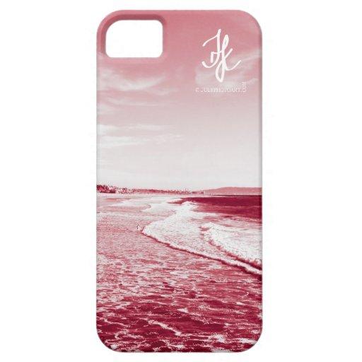 Playa de Venecia en caja roja del iPhone 5 iPhone 5 Funda