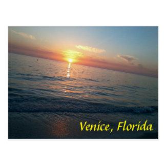 Playa de Venecia, la Florida en la puesta del sol Tarjetas Postales