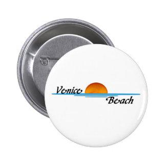 Playa de Venecia Pin Redondo De 2 Pulgadas