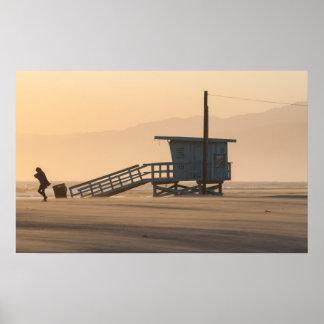 playa de Venecia, poster de California