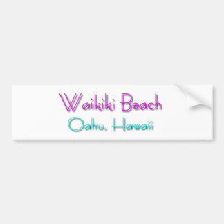 Playa de Waikiki Etiqueta De Parachoque