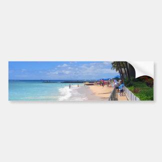 Playa de Waikiki, Oahu, Hawaii Pegatina De Parachoque