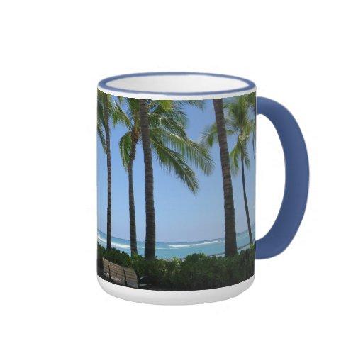 Playa de Waikiki Taza De Dos Colores