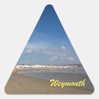 Playa de Weymouth Calcomania De Triangulo Personalizadas