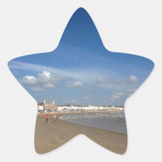Playa de Weymouth Calcomania Forma De Estrella Personalizadas