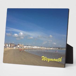 Playa de Weymouth Placa De Plastico