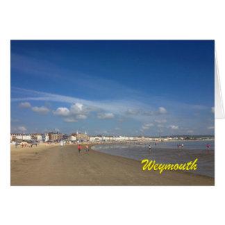 Playa de Weymouth Tarjeta De Felicitación