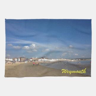 Playa de Weymouth Toallas De Cocina