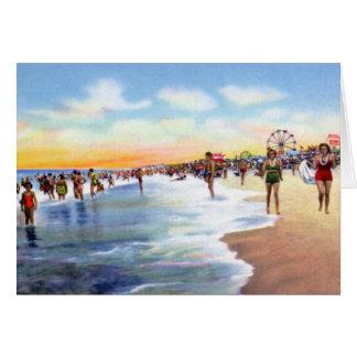 Playa de Wilmington Carolina del Norte Carolina Tarjeta De Felicitación