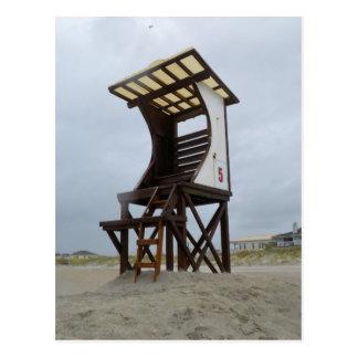 Playa de Wrightsville del soporte del salvavidas Tarjetas Postales