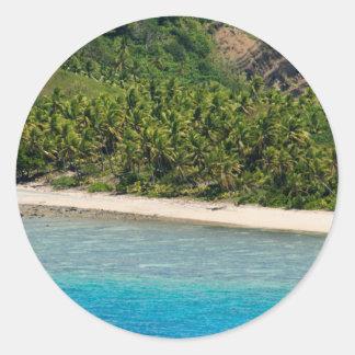 Playa de Yasawas, Fiji Etiqueta Redonda