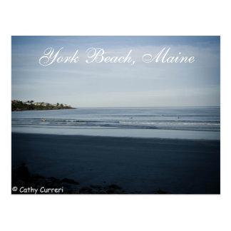 Playa de York, postal de Maine