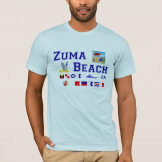 Playa de Zuma - deletreo marítimo de la bandera Playera