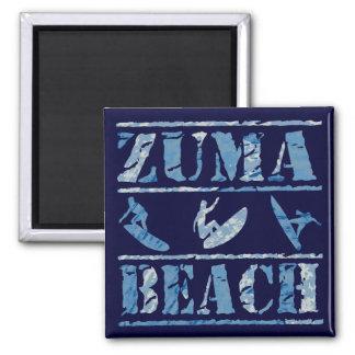 Playa de Zuma Imán Cuadrado