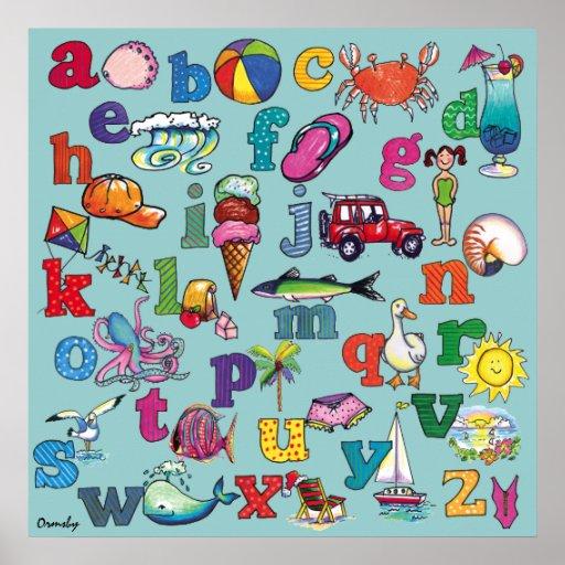 Playa del alfabeto - poster