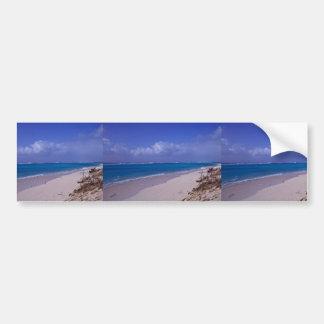 Playa del atolón intermediario etiqueta de parachoque