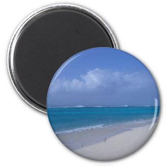Playa del atolón intermediario iman de nevera