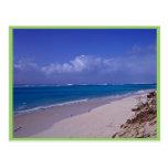 Playa del atolón intermediario postales