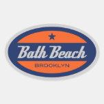 Playa del baño calcomanía oval personalizadas