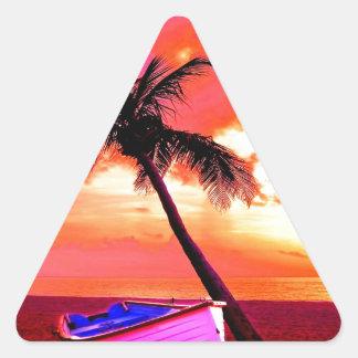 playa del barco de las vacaciones de verano del colcomanias trianguladas personalizadas