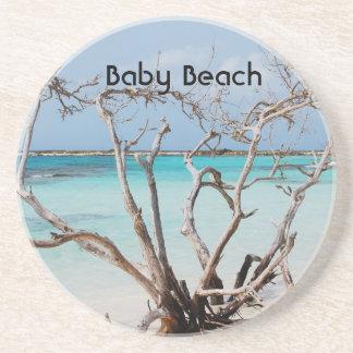 Playa del bebé posavasos cerveza