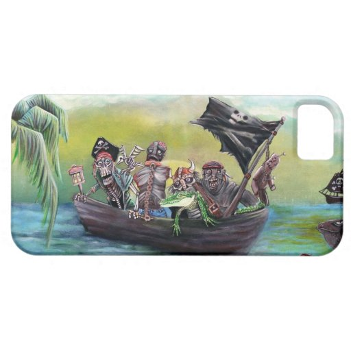 Playa del botín del pirata iPhone 5 Case-Mate protector
