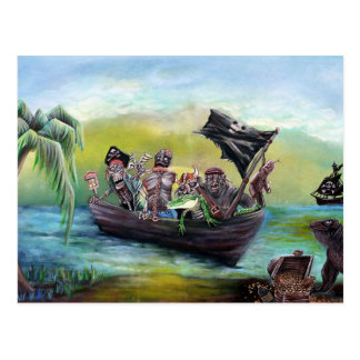 Playa del botín del pirata postales