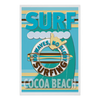 Playa del cacao de la resaca póster