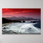 Playa del cañón, Oregon, los E.E.U.U. Poster
