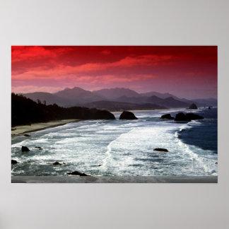 Playa del cañón Oregon los E E U U Poster