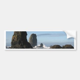 Playa del cañón y papel de embalaje de la roca del pegatina de parachoque