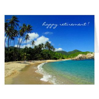 playa del Caribe reservada Tarjeta De Felicitación Grande