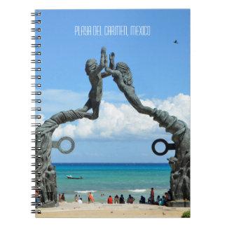 Playa del Carmen Caribbean Ocean Beach Scene Notebook