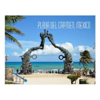 Playa del Carmen Caribbean Sea Beach Scene Postcard