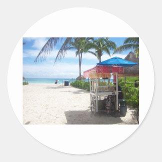 Playa Del Carmen Classic Round Sticker